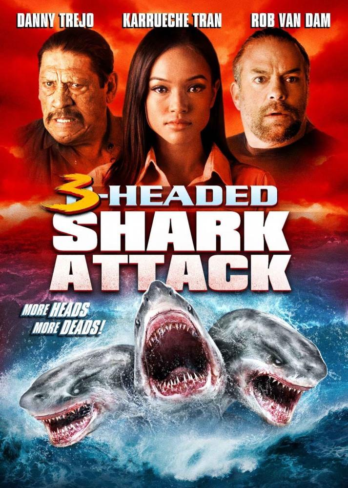 Напад трьохголової акули